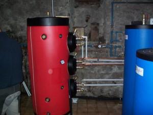 Accumulo inerziale sonde geotermiche